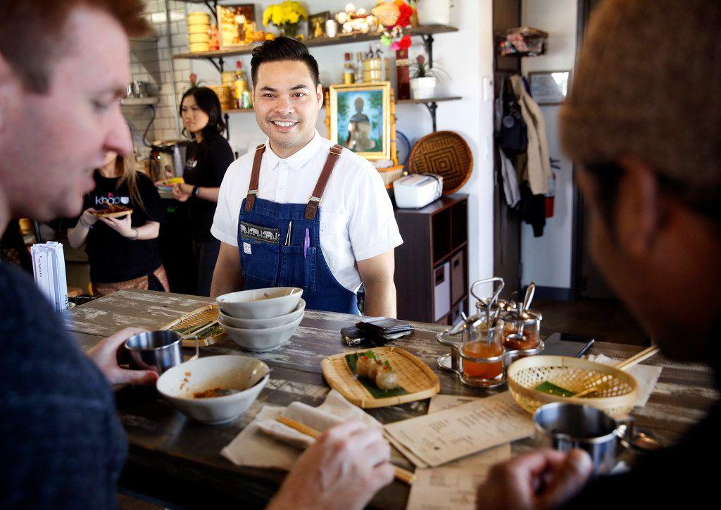 Chef Donny Sirisavath at Khao Noodle Shop