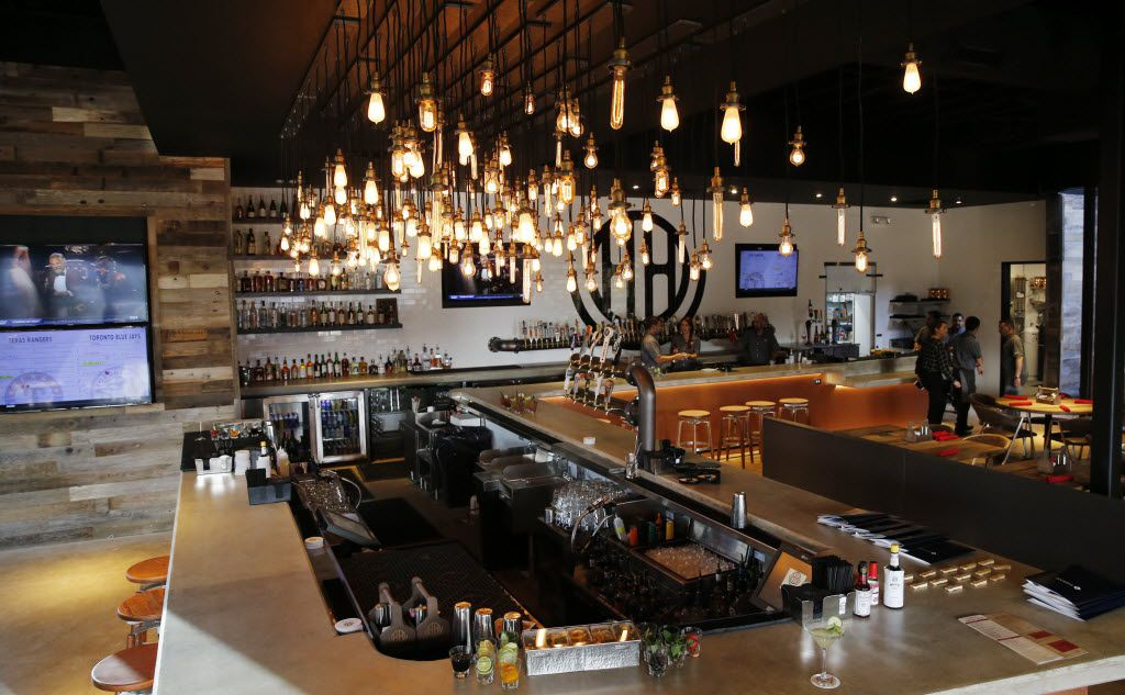 Main bar at the Happiest Hour in Dallas on Thursday, October 8, 2015. 50 beer taps are available.