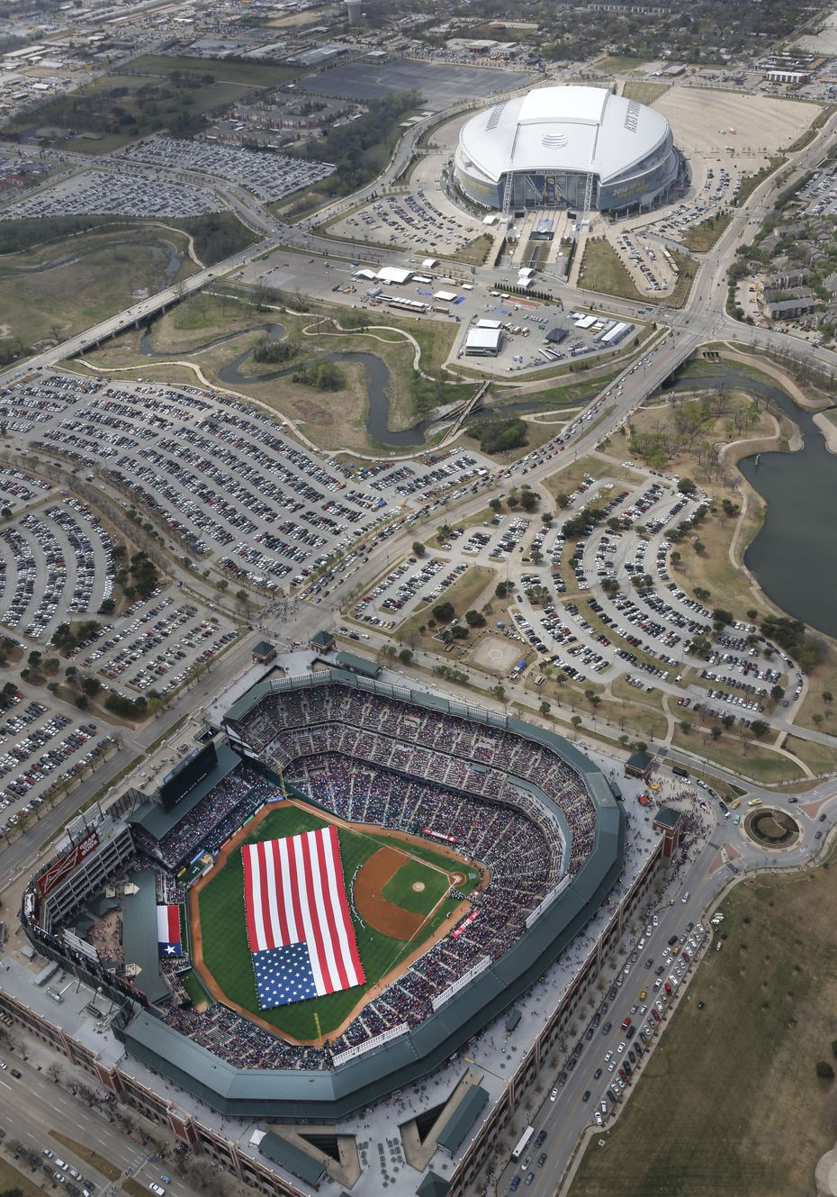 In the 1990s and 2000s, Arlington helped fund stadiums for the Rangers and Dallas Cowboys. While the venues are top-notch, they haven't created development nearby.