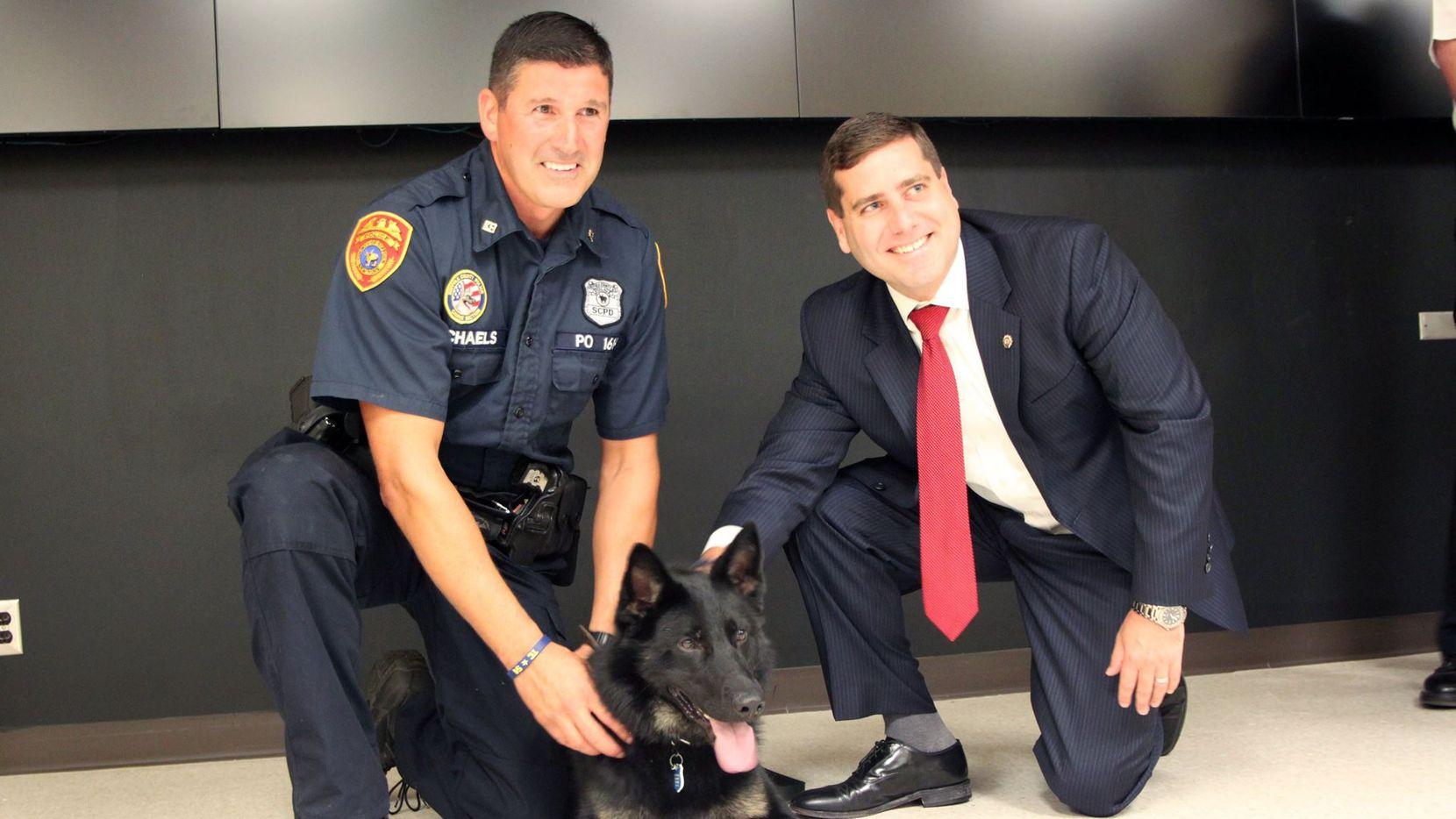 Officer Kenneth Michaels and his canine partner, Dallas V.