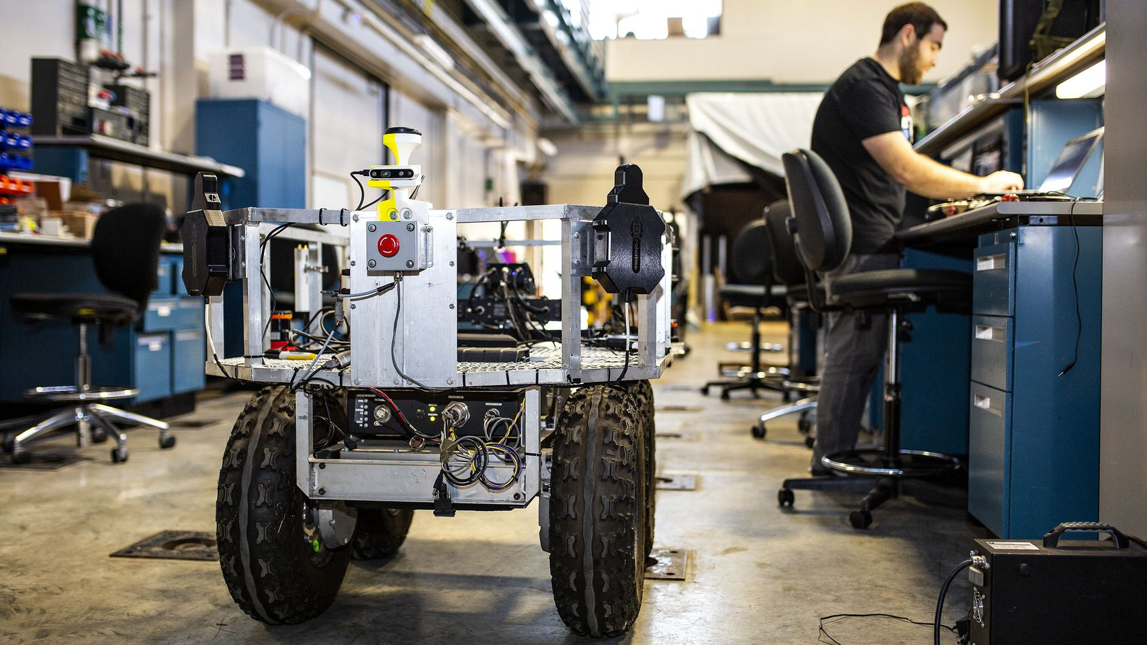 The U.S. Army Futures Command sent a vehicle to the Nuclear and Applied Robotics Group lab at the University of Texas for the team to develop it into a semi-autonomous vehicle that will be able to help transport equipment and do other dangerous tasks that are currently being performed by soldiers.