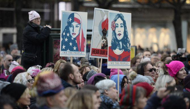 Marcha de Mujeres en Suecia./AP