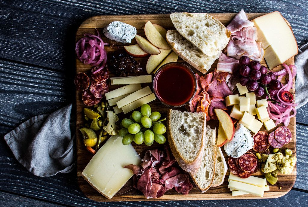 Here's an example of an all-local charcuterie board.