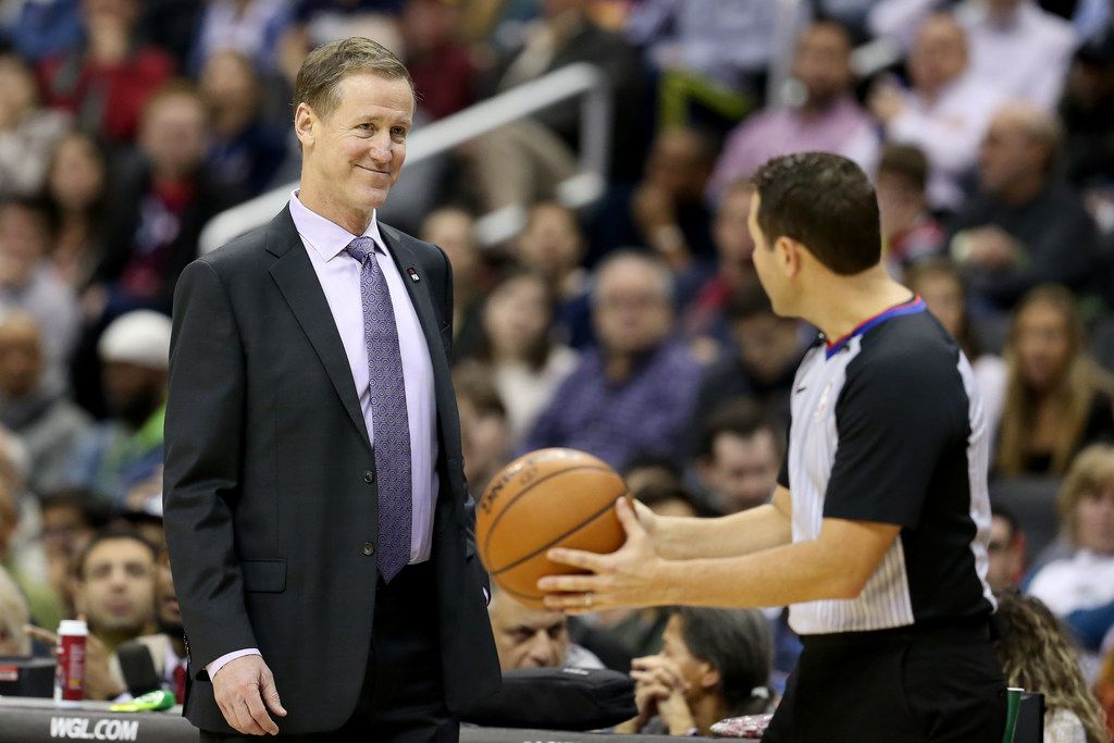 Portland coach Terry Stotts believes the fans are going to have a lot of fun watching the Western Conference shake out this season with so many teams in the playoff chase going into December. (Photo by Will Newton/Getty Images)