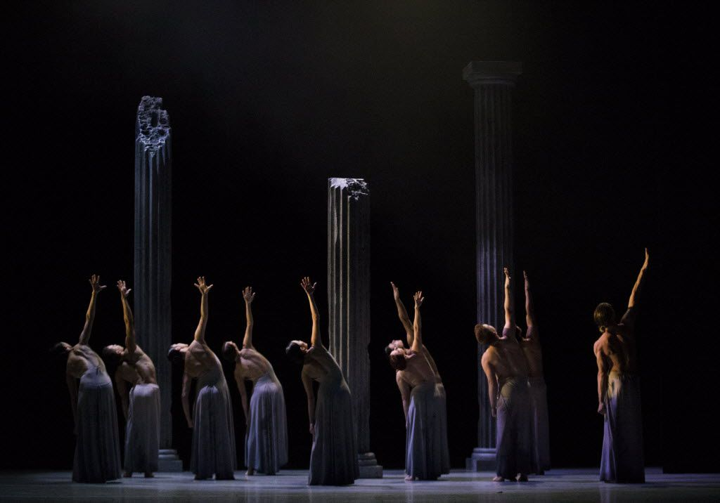 Dancers perform Carved In Stone, choreographed by Joy Atkins Bollinger, during a dress rehearsal of the show Six by the Bruce Wood Dance Project on Friday, June 17, 2016 at Dallas City Performance Hall in downtown Dallas.  (Ashley Landis/The Dallas Morning News)