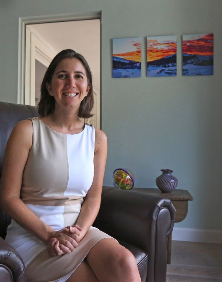 Sadie Funk, the CEO of First3Years, is pictured at her home in Dallas on Friday, June16, 2017. (Louis DeLuca/The Dallas Morning News)
