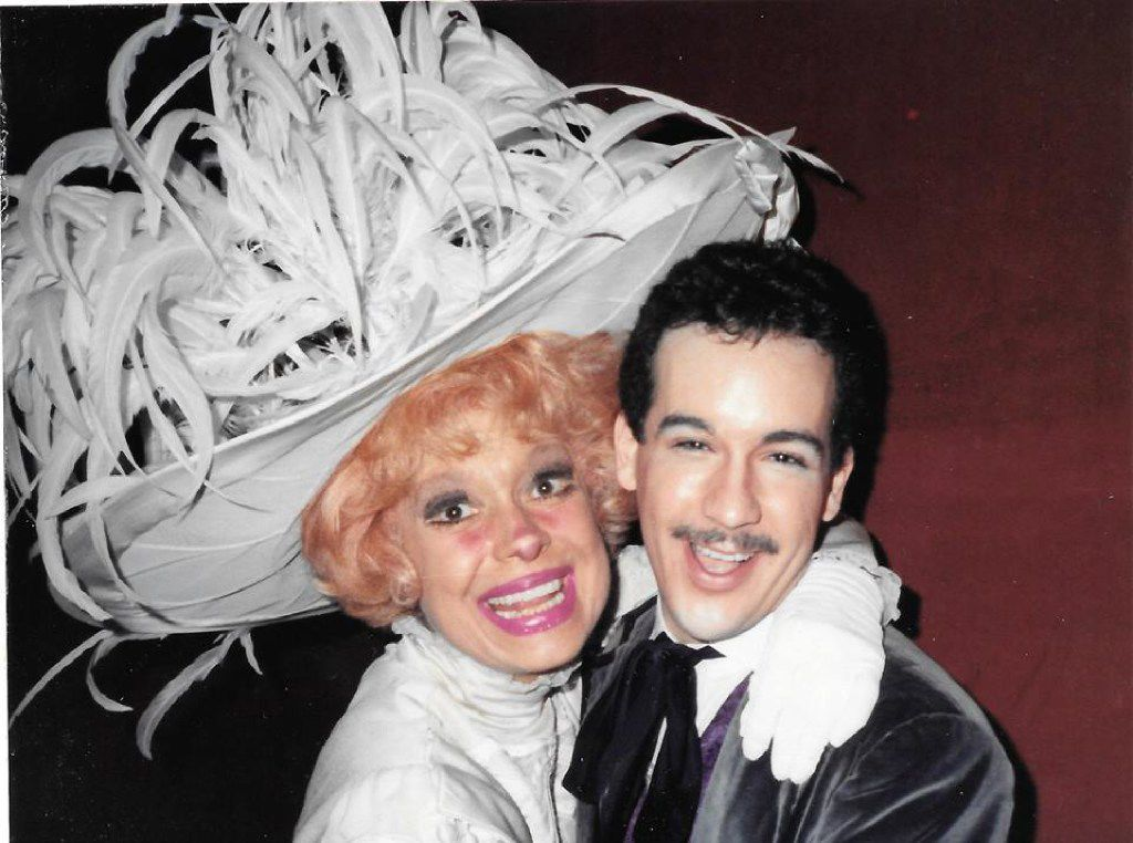 Kevin Ligon and Carol Channing in Dallas Summer Musicals' national tour of 'Hello, Dolly!' in December 1982 in New Orleans,