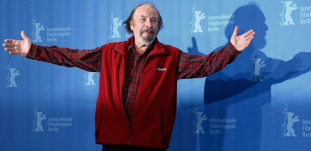 "U.S. actor Rip Torn poses during a photo call for the competition movie ""Happy Tears,"" at the Berlinale in Berlin."