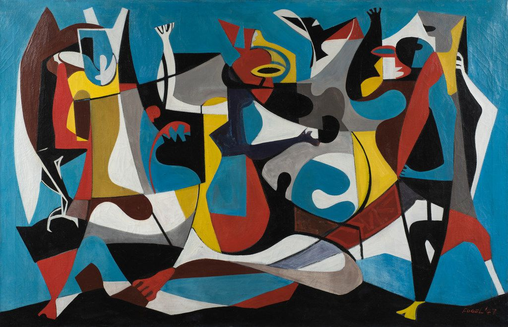 Seymour Fogel (Am. 1911-1984) Untitled, 1947. Expected range:: Between $15,000 and $20,000.