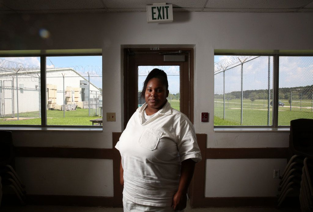 Anisha Walker at the Henley State Jail in Dayton on Sept. 1, 2016. At 14, Walker was sent to prison for killing a man after selling him cocaine. Now 34, she has just been granted parole.