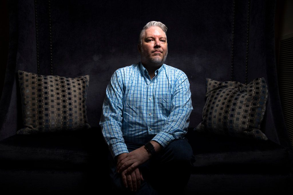 Brian Nesbitt, 48, poses for a photograph at the Warwick Melrose - Dallas on Friday, Jan. 4, 2019. Nesbitt went through conversion therapy in the 1990s. Conversion therapy is the practice of trying to change an individual's sexual orientation through psychological or religious interventions.