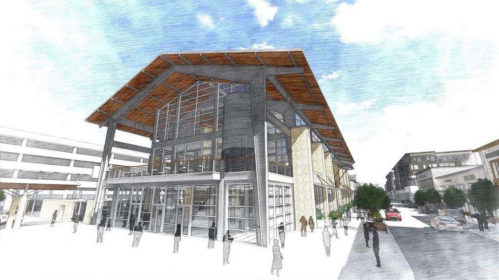 A rendering of Legacy Food Hall, set to open in 2017 in Plano's Legacy West development. It will include 55,000 square feet of space for artisan foods, craft beer and concerts