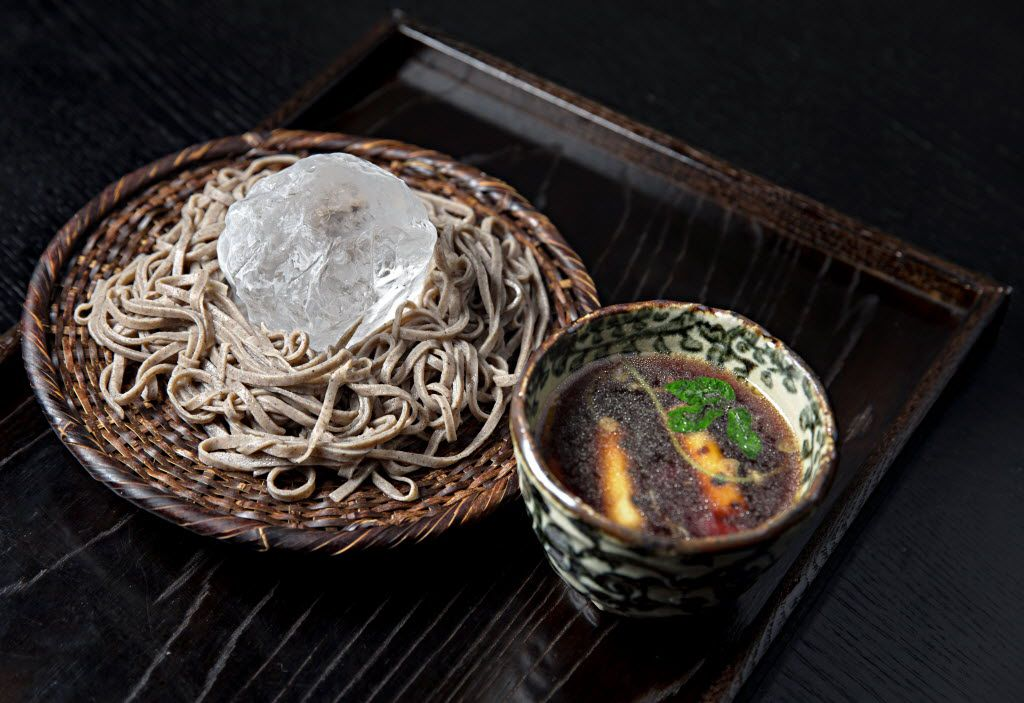 Cold country soba with duck broth at Tei-An