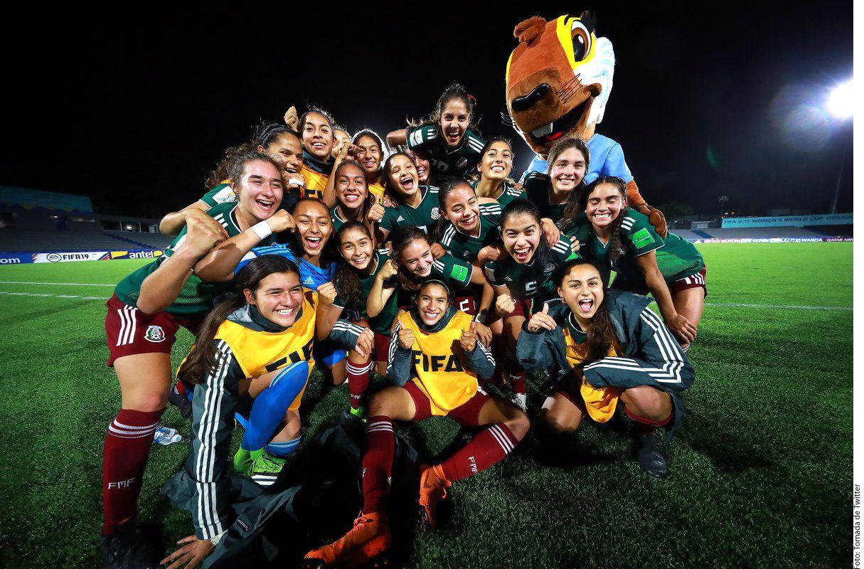La selección femenil del futbol mexicana Sub-17 llega a su primera final. Foto AGENCIA REFORMA