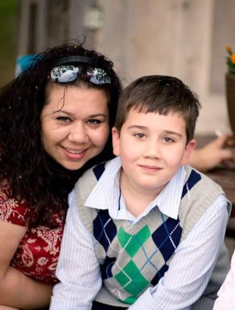 Lorenzo Fullen and his mom, Lori Fullen, around the time he was first diagnosed. The Fullens live in Frisco, and their lives were changed when genetic testing revealed Lorenzo's seizures could be easily treated.