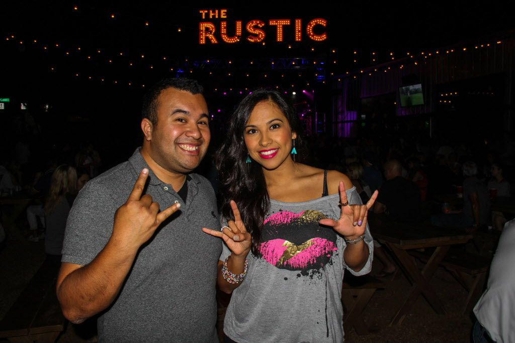 Rob Zuniga and Cassandra Hurtado attended the #TBT to the '80s party on Thursday at the Rustic.