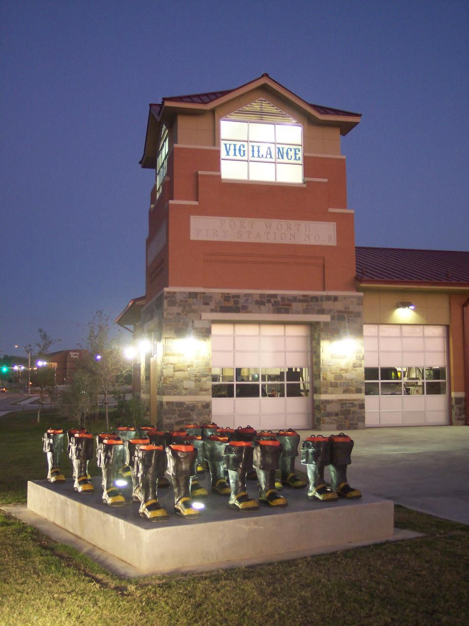McGehearty won national recognition in 2007 with his United We Stand, an installation of firemen s boots outside Fire Station No. 8 in Fort Worth.