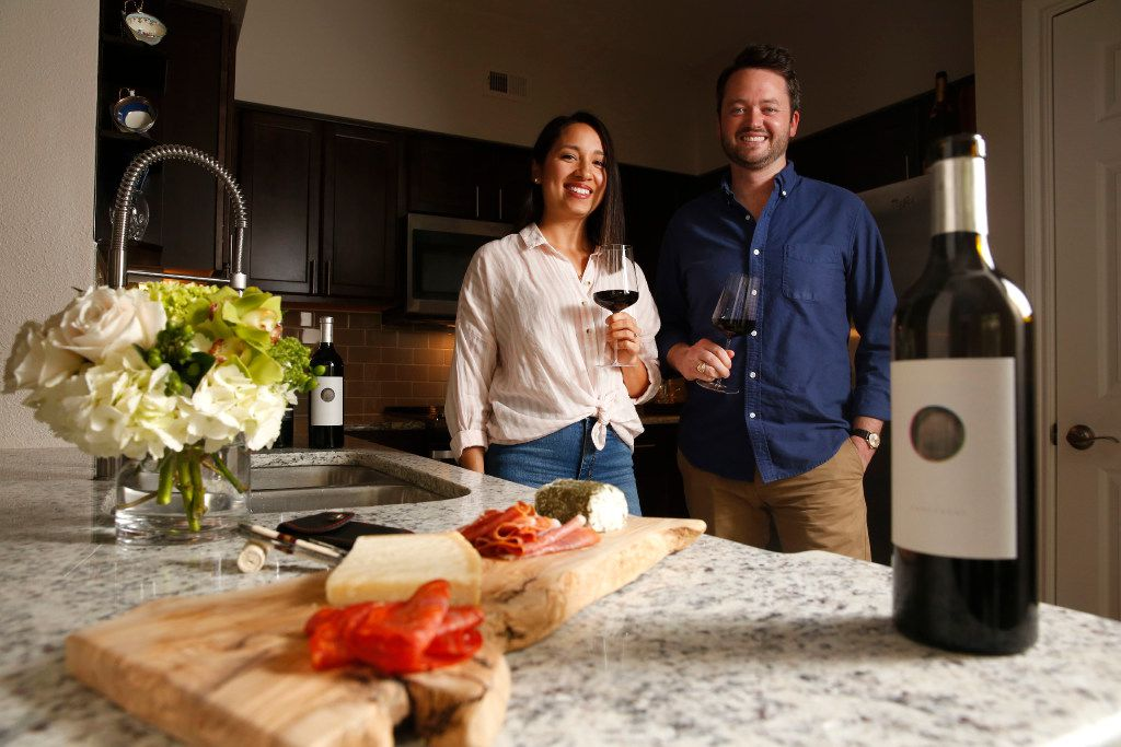 Michael and Rachel Kennedy, who live in Uptown, launched Component Wine Co. in 2016.  (Rose Baca/The Dallas Morning News)
