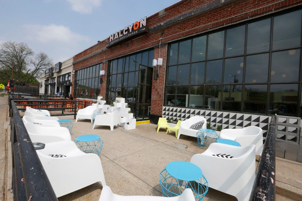 Exterior of the Halcyon Coffee Bar and Lounge  photographed on Tuesday March 28, 2017. The new coffee bar and lounge is located at 2900 Greenville Ave. in Dallas.