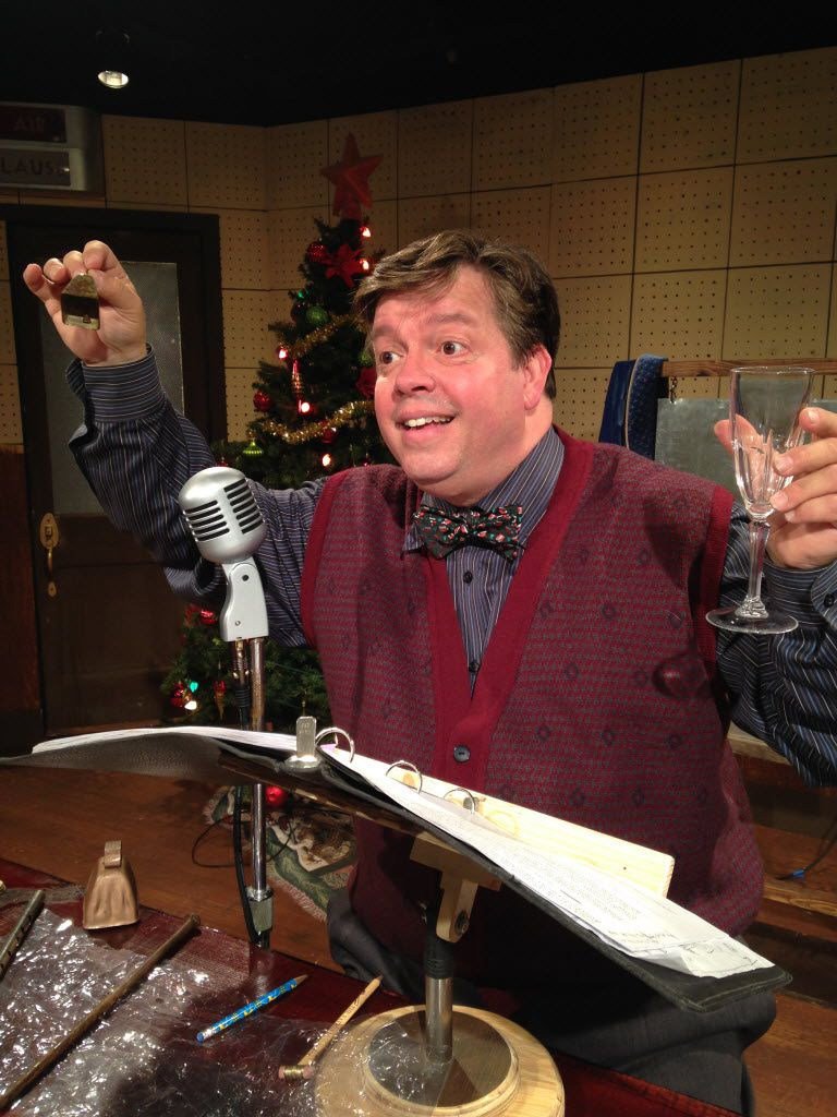 B.J. Cleveland stars in the one-man show, 'A Christmas Carol: The Radio Show' at Theatre Too at Theatre Three Nov. 25-Dec. 11, 2016