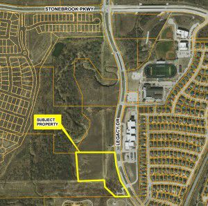 This map shows the location of the proposed substation along Legacy Drive. (Courtesy city of Frisco)