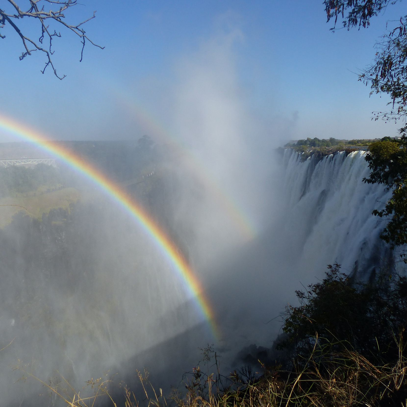 "Victoria Falls in known locally as Mosi-oa-Tunya, ""the smoke that thunders."""