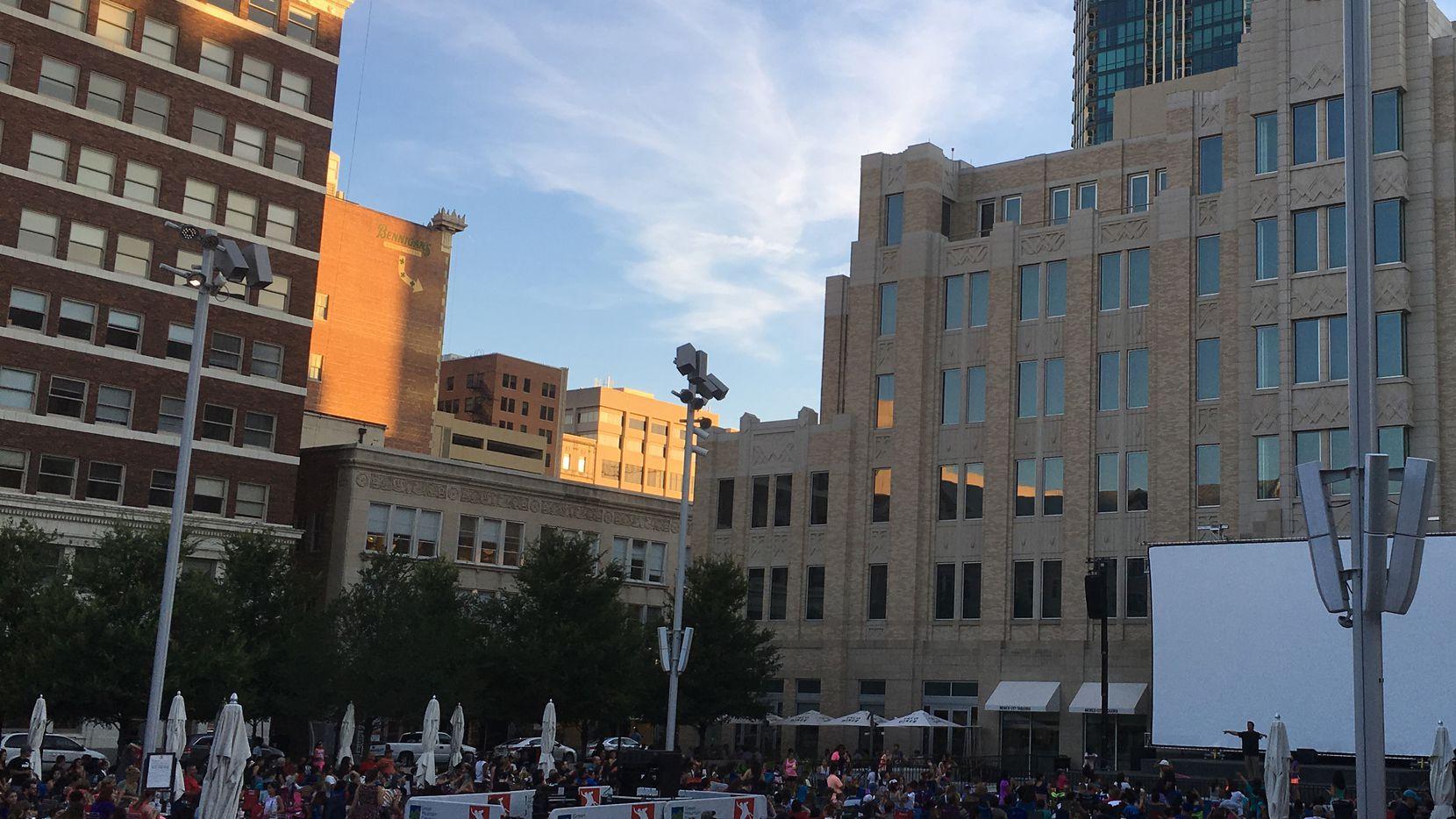 Sundance Square Plaza in Fort Worth