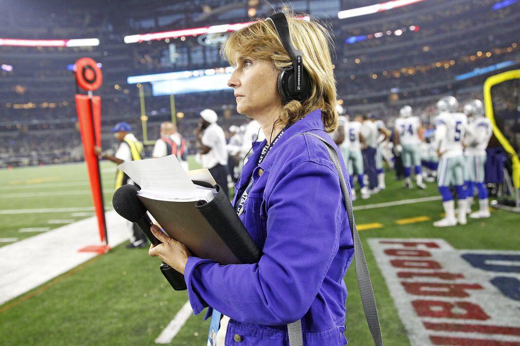 Kristi Scales, Dallas Cowboys sideline reporter.