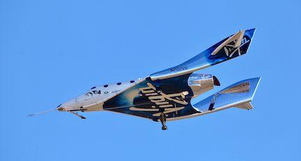 La nave SpaceShipOne de Virgin Galactic. AP