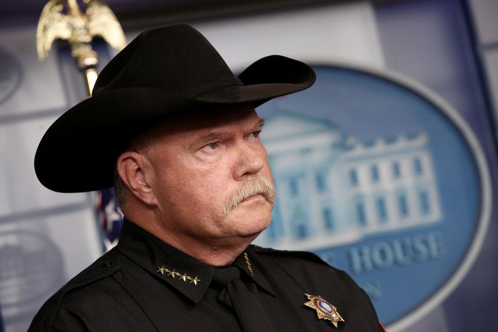 Tarrant County Sheriff Bill Waybourn attends a White House briefing on recent developments in U.S. immigration policy on Oct. 10, 2019.