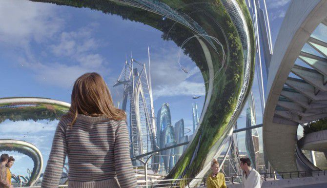"""Britt Robertson protagoniza la fantasía de ciencia ficción """"Tomorrowland"""", la apuesta de Disney para el cine de verano. (AP/DISNEY)"""