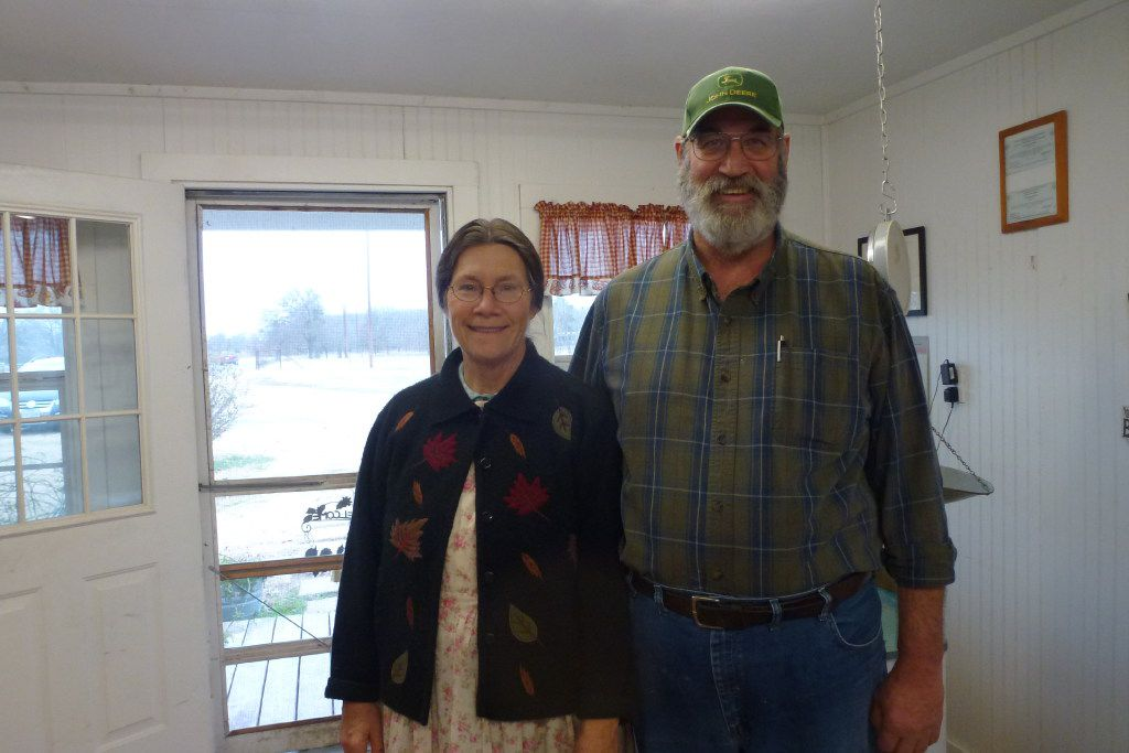 Mike and Debbie Sams, owners of Full Quiver Farms in Kemp.