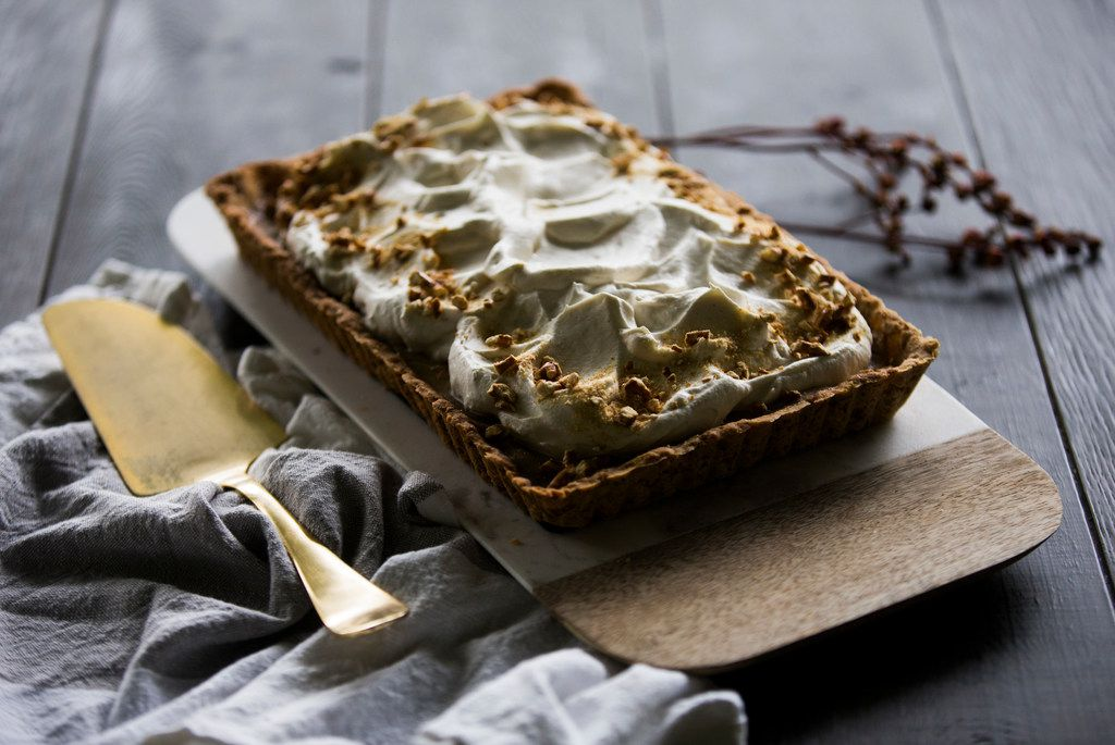 Butterscotch Pretzel Tart