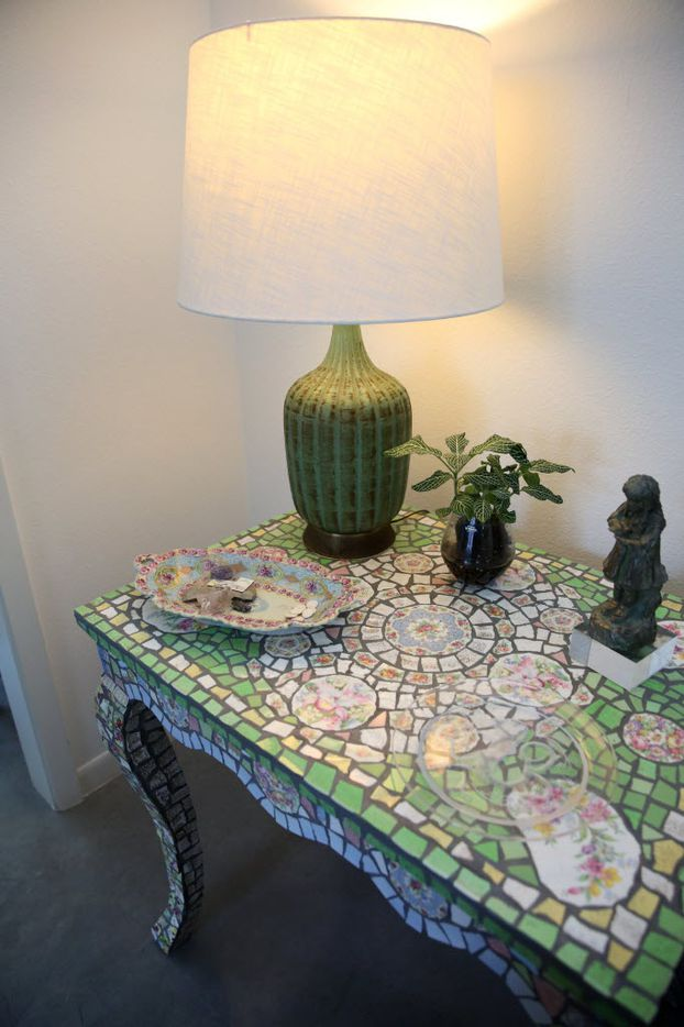 Mosaic bed-side table