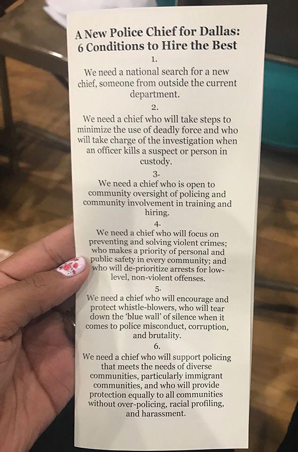 La lista de requisitos para un nuevo jefe de policía. (KARINA RAMÍREZ/AL DÍA)