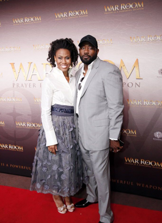 Actress Priscilla Shirer (plays Elizabeth Jordan in War Room) with her husband Jerry Shirer on the red carpet premiere of War Room, on Monday, Aug. 10, 2015 at the Majestic Theater in Downtown Dallas. The War Room is a film from the Kendrick Brothers, the makers of the films Facing the Giants, Fireproof and Courageous. Two Dallasites, actresses Priscilla Shirer and Alena Pitts, play major roles in the film. Ben Torres/Special Contributor