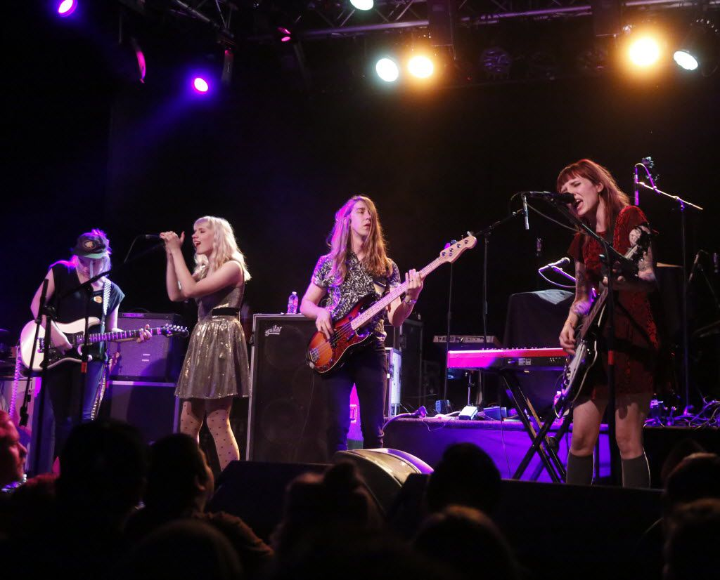 Eisley band members from left, Elle Puckett, Christie Dupree, Garron Dupree and Sherri Dupree perform at Trees in Deep Ellum in Dallas Texas Tuesday December 1, 2015. (Ron Baselice/The Dallas Morning News)