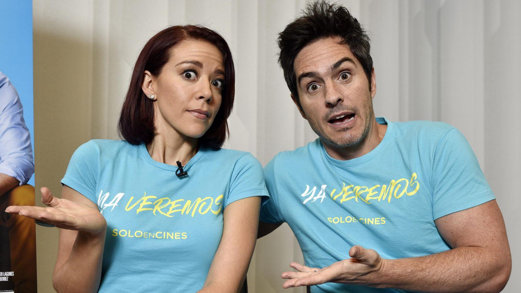 """Fernanda Castillo y Mauricio Ochmann promueven en Estados Unidos la película """"Ya Veremos"""". (ESPECIAL PARA AL DIA/BEN TORRES)"""