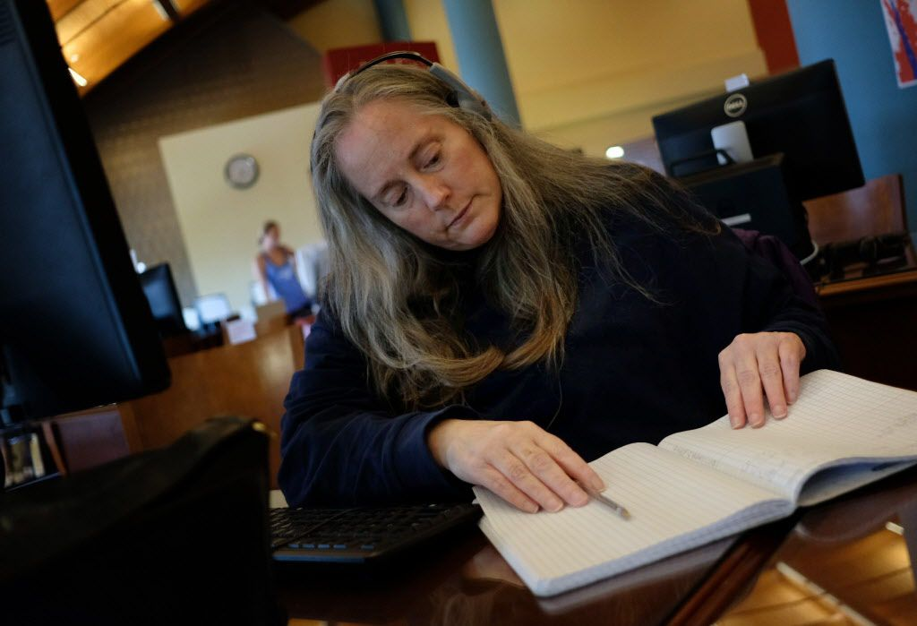 Katherine Rourke, who has been homeless since 2015, spends many of her days at the Frisco Public Library, especially when temperatures are more extreme. Often, she'll write emails to city leadership to advocate for the homeless population in Frisco.
