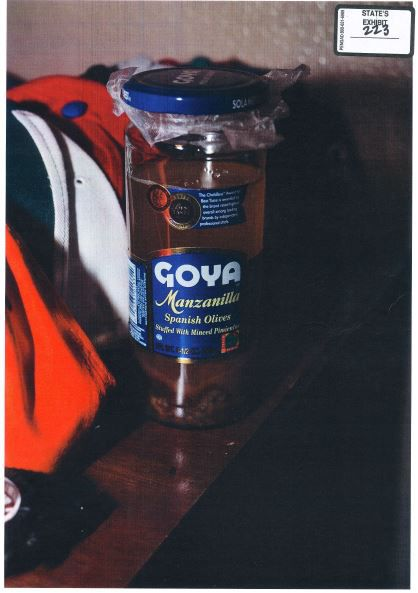 This is the olive jar Plano police found in Enrique Arochi's bedroom at his home in Allen.