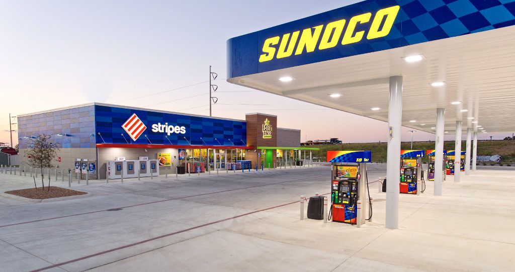 Stripes Sunoco store in Seguin, which is located northeast of San Antonio. Irving-based 7-Eleven said on April 6, 2017 that it purchased 1,108 stores from Sunoco. The deal is expected to close in the second half of the year. PHOTO BY EDDIE SEAL Stripes Store, Seguin, TX