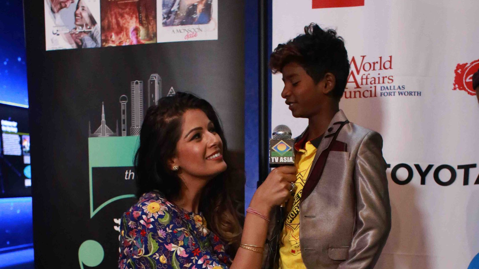 """Actor Sunny Pawar, who starred in the film 'Lion' and also 'Chippa,"""" is interviewed at the 5th Annual DFW South Asian Film Festival. Courtesy of DFW South Asian Film Festival."""