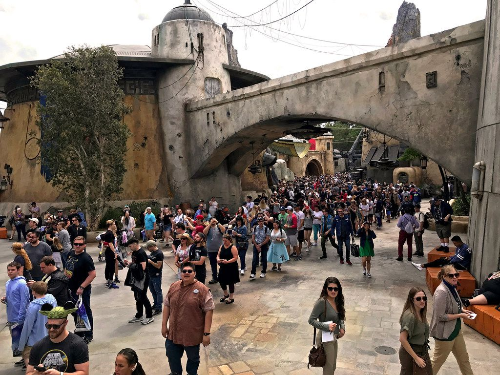 Star Wars: Galaxy's Edge is a popular new expansion area at Disneyland in Anaheim, Calif.