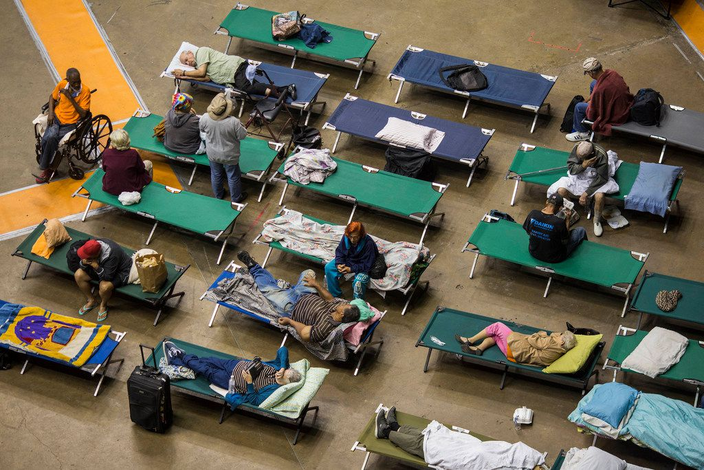 More than 500 residents of San Juan are taking refuge at Roberto Clemente Coliseum, the biggest shelter on the island. MUST CREDIT: Photo for The Washington Post by Dennis M. Rivera Pichardo