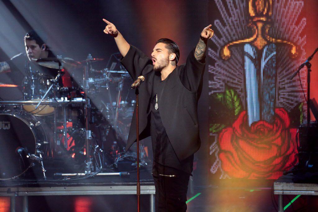 Maluma en su presentación en marzo en el Majestic Theatre de Dallas. (FOTO ESPECIAL PARA AL DIA/MARIA OLIVAS)
