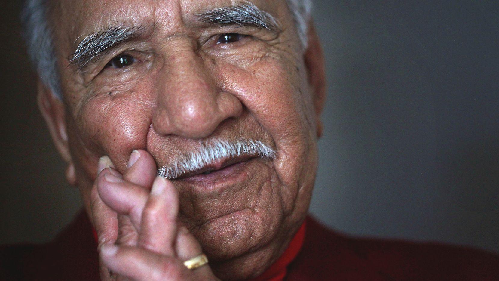 Felix Lozada, shown at age 89, in 2012