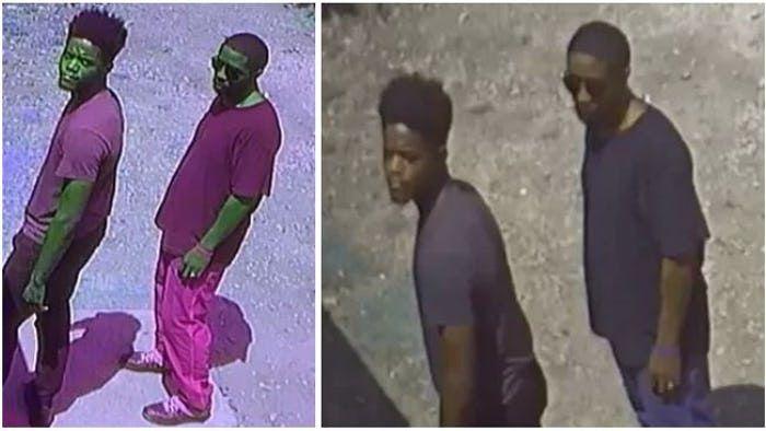 La policía dio a conocer estas imágenes el viernes pasado de los sospechosos de una balacera.