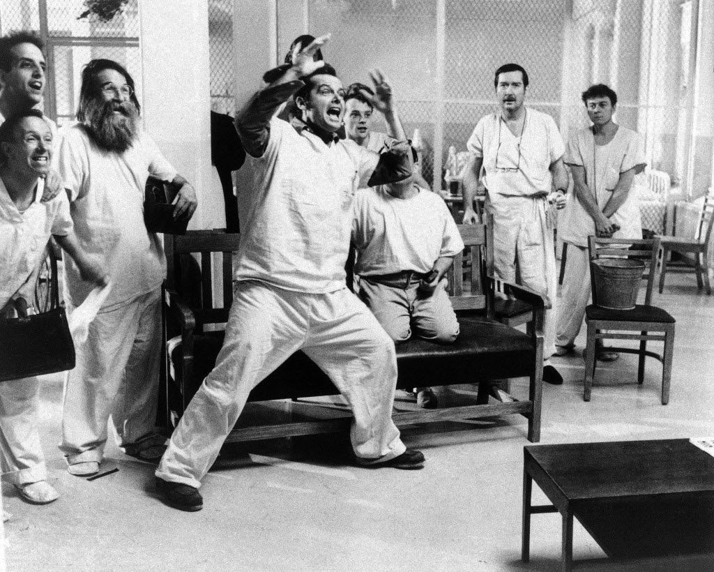 One Flew Over the Cuckoo's Nest was among films that reflected the dark mood of the 1970s.