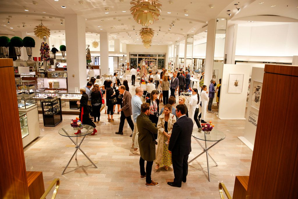 The annual Dallas Art Fair hosted a kick-off party at Neiman Marcus downtown Dallas honoring this year's featured artist Stephen Lapthisophon