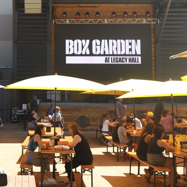 The Box Garden at Legacy Hall, part of Legacy West in Plano